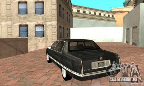 Cadillac Deville v2.0 1994 para GTA San Andreas traseira esquerda vista