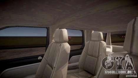 Chevrolet Tahoe 2012 NYPD para GTA 4 vista inferior