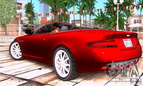 Aston Martin DB9 para GTA San Andreas esquerda vista