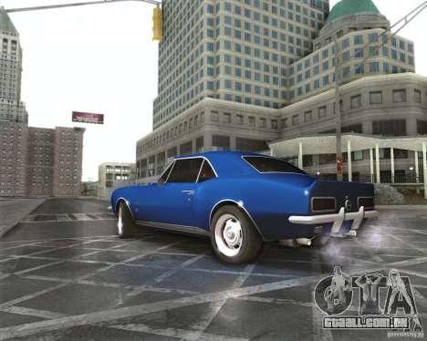 Chevrolet Camaro 1969 para GTA San Andreas esquerda vista