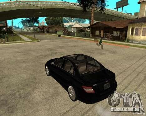 Mercedes Benz C350 W204 Avantgarde para GTA San Andreas esquerda vista