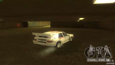 Citroen BX 4TC para GTA San Andreas traseira esquerda vista