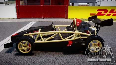 Ariel Atom 3 V8 2012 para GTA 4 esquerda vista