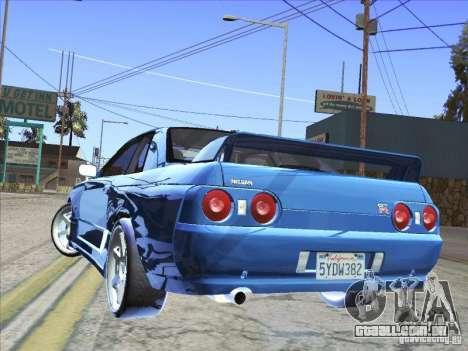 Nissan Skyline GT-R 32 1993 para GTA San Andreas esquerda vista
