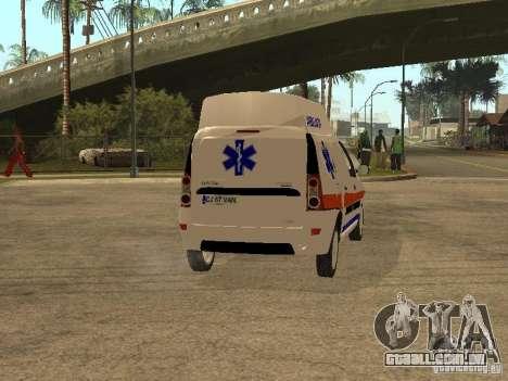 Dacia Logan Ambulanta para GTA San Andreas vista direita