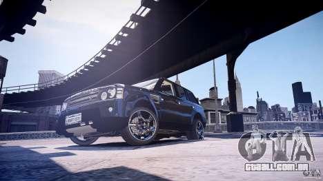 Range Rover Sport para GTA 4 traseira esquerda vista