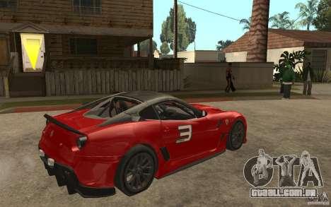 Ferrari 599xx 2010 para GTA San Andreas vista direita