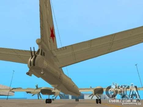 Tu-95 para GTA San Andreas vista interior