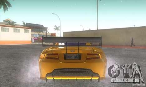 Aston Martin DB9 MW para GTA San Andreas traseira esquerda vista