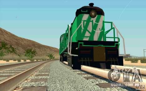 BURINGTON NORTHERN RS3 para GTA San Andreas vista traseira