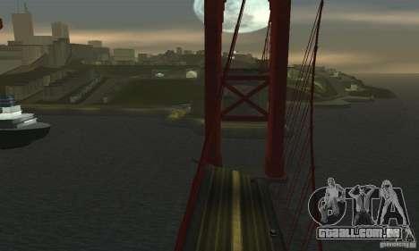 Ponte destruída em San Fierro para GTA San Andreas por diante tela