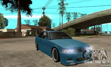 BMW M3 HAMMAN para GTA San Andreas vista traseira