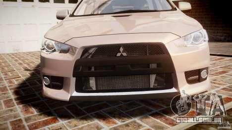Mitsubishi Lancer Evolution X para GTA 4 vista lateral