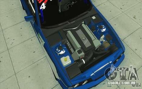 BMW E34 V8 para GTA San Andreas vista inferior
