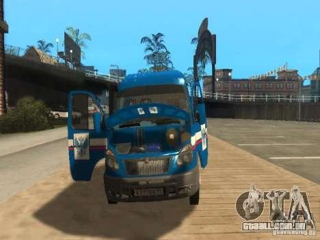 Correio de gazela 2705 da Rússia para GTA San Andreas vista interior