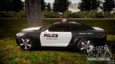Chevrolet Camaro Police (Beta) para GTA 4 esquerda vista