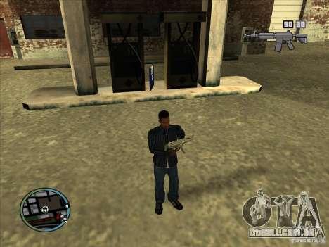 SA IV WEAPON SCROLL 2.0 para GTA San Andreas quinto tela