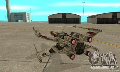 X-WING de Star Wars v1 para GTA San Andreas vista interior