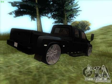 GMC C4500 Pickup DUB Style para GTA San Andreas traseira esquerda vista