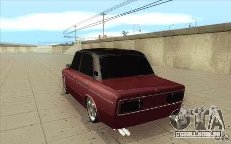 Lada VAZ 2106 para GTA San Andreas traseira esquerda vista