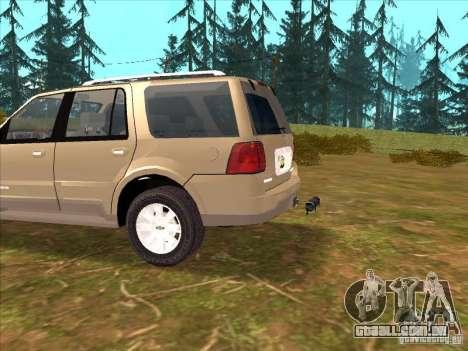 Lincoln Navigator para GTA San Andreas vista interior