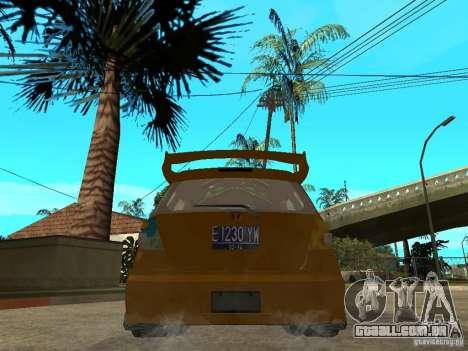 Honda Jazz Sport para GTA San Andreas traseira esquerda vista