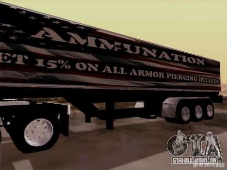 Reboque, Peterbilt 377 para GTA San Andreas vista traseira