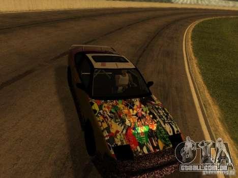 Nissan 240sx Street Drift para GTA San Andreas vista interior