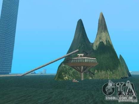 (Ilha Mounth na água) para GTA San Andreas