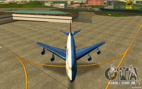 B-747 American Airlines Skin para GTA San Andreas vista interior