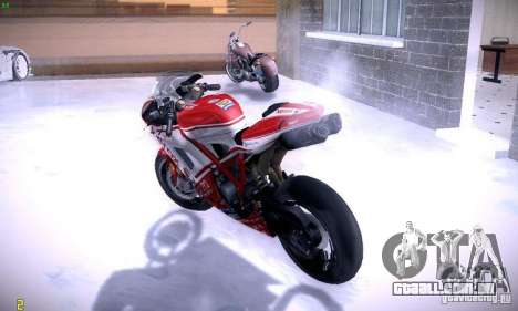 Ducati 1098 para GTA San Andreas vista interior