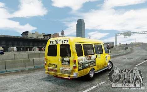 Gazela 2705 táxi v 2.0 para GTA 4 vista direita