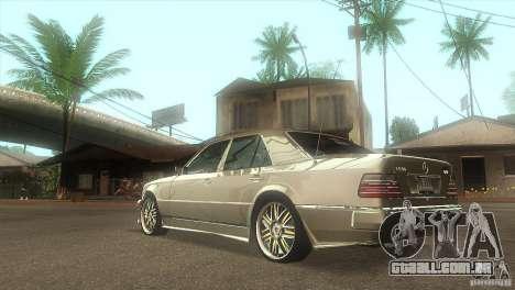 Mercedes-Benz E500 VIP Class para GTA San Andreas traseira esquerda vista