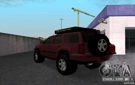 Chevrolet Tahoe para GTA San Andreas esquerda vista