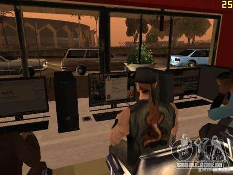 Ganton Cyber Cafe Mod v1.0 para GTA San Andreas sexta tela