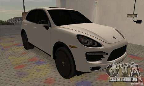 Porsche Cayenne Turbo Black Edition para GTA San Andreas esquerda vista