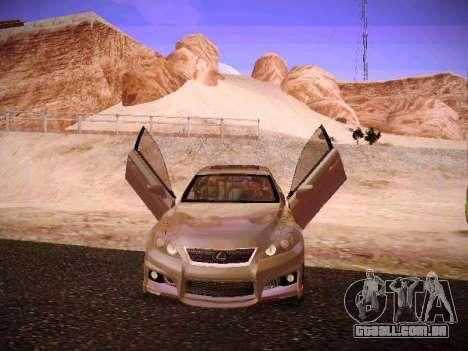 Lexus I SF para GTA San Andreas vista inferior