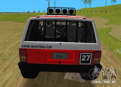 Jeep Cherokee 1984 Sandking para GTA Vice City vista direita