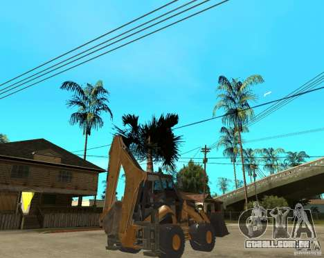 Lastik Tekerli Dozer para GTA San Andreas traseira esquerda vista