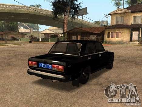 VAZ 21073 serviço para GTA San Andreas traseira esquerda vista