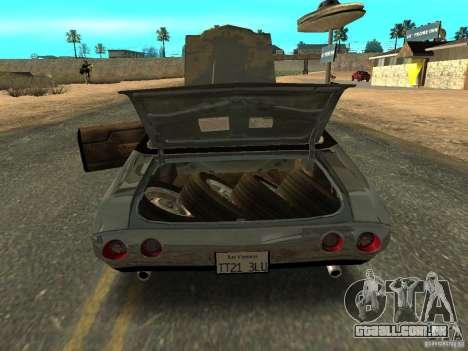 Chevrolet Chevelle Rustelle para GTA San Andreas vista traseira