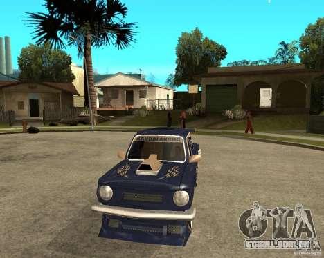 ZAZ-968 m rua tune para GTA San Andreas vista traseira