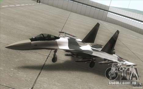 Su-35 BM v 2.0 para vista lateral GTA San Andreas