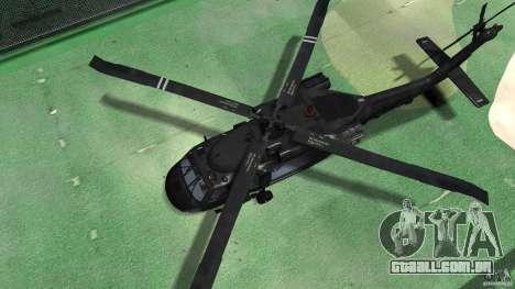 Sikorsky UH-60 Black Hawk para GTA 4 vista de volta