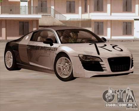 Audi R8 Production para GTA San Andreas vista interior