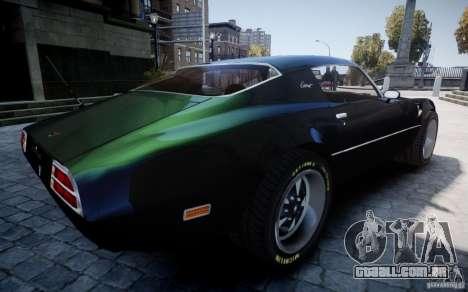 Pontiac Firebird 1971 para GTA 4 vista superior