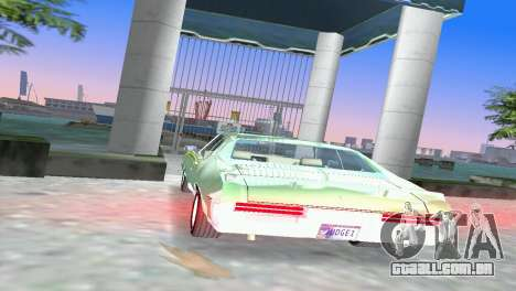 Pontiac GTO The Judge 1969 para GTA Vice City vista traseira esquerda