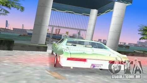 Pontiac GTO The Judge 1969 para GTA Vice City vista traseira esquerda