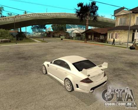 MERCEDES CLS 63 AMG TUNING para GTA San Andreas esquerda vista