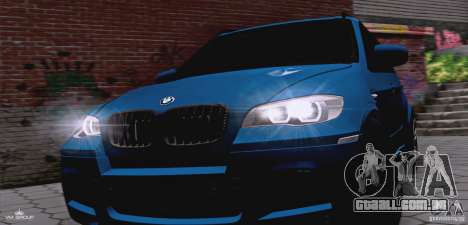 BMW X5M 2013 v1.0 para GTA San Andreas vista interior